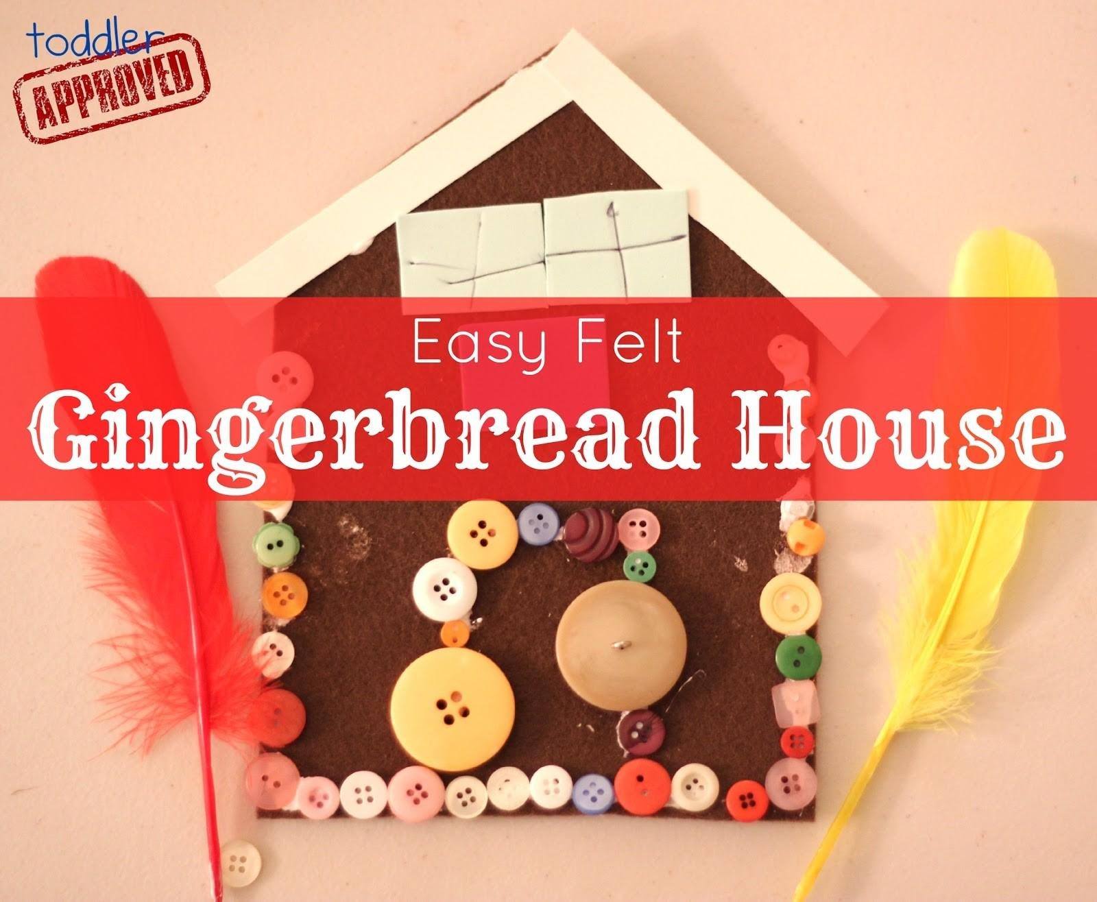 Toddler Approved Christmas Crafts Easy Felt Gingerbread