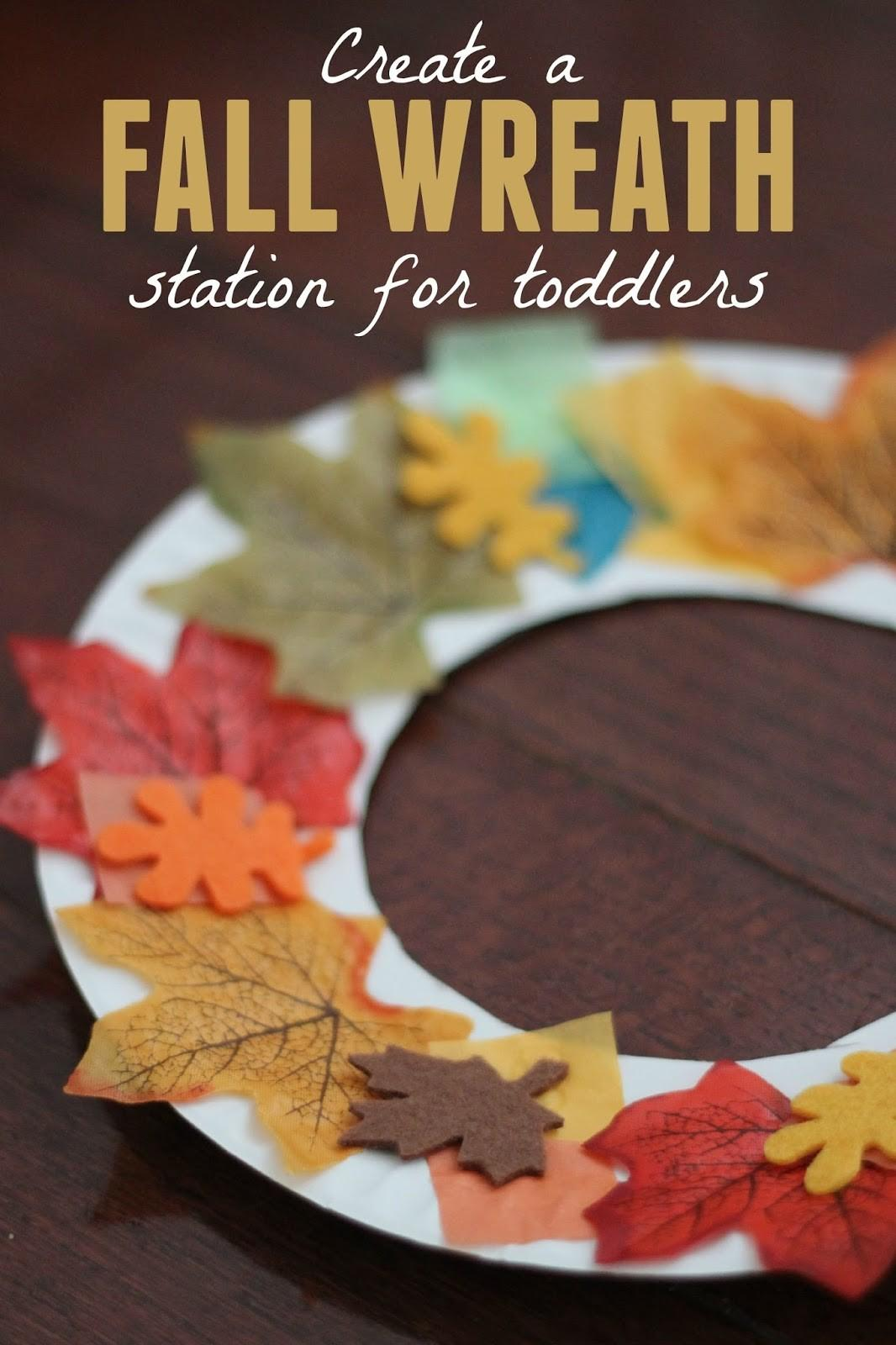 Toddler Approved Fall Wreath Making Station Toddlers