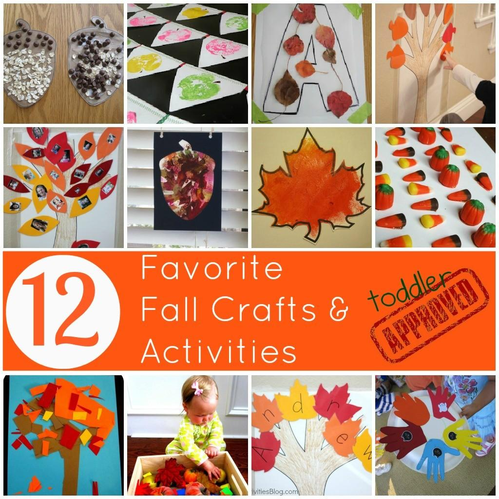 Toddler Approved Favorite Fall Crafts Activities