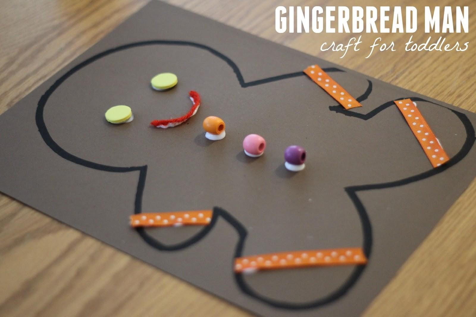 Toddler Approved Gingerbread Man Collage Craft