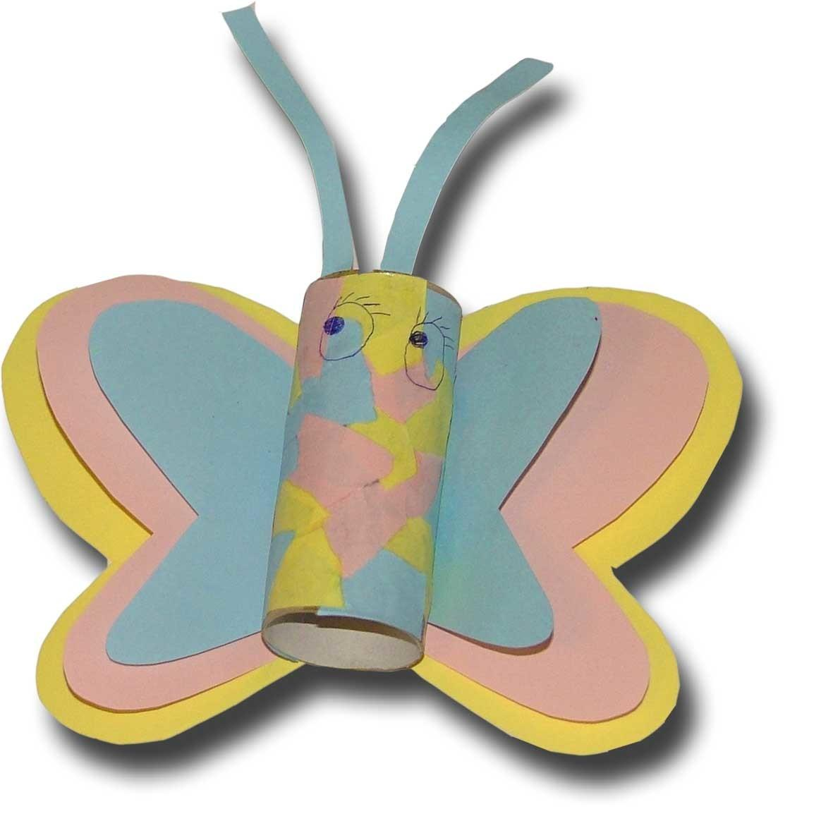Toilet Paper Roll Butterfly Craft Diy