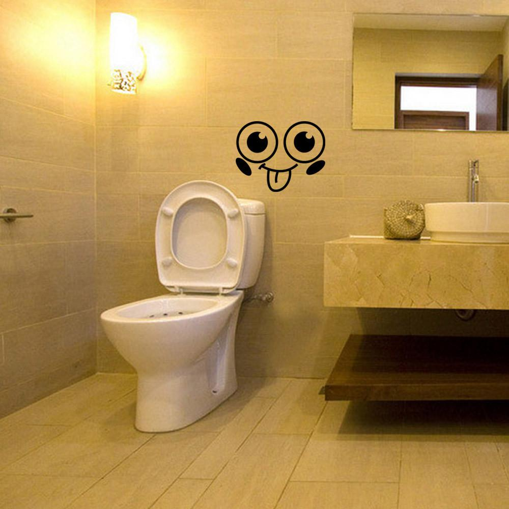 Toilet Wall Sticker Removable Bathroom Decals Funny Paper