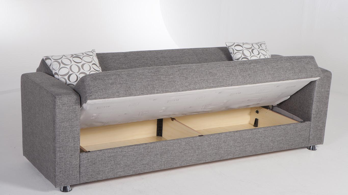 Tokyo Diego Gray Convertible Sofa Bed Sunset