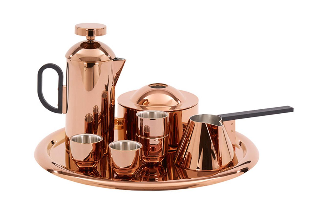 Tom Dixon New Sophisticated Copper Coffee Set Improves
