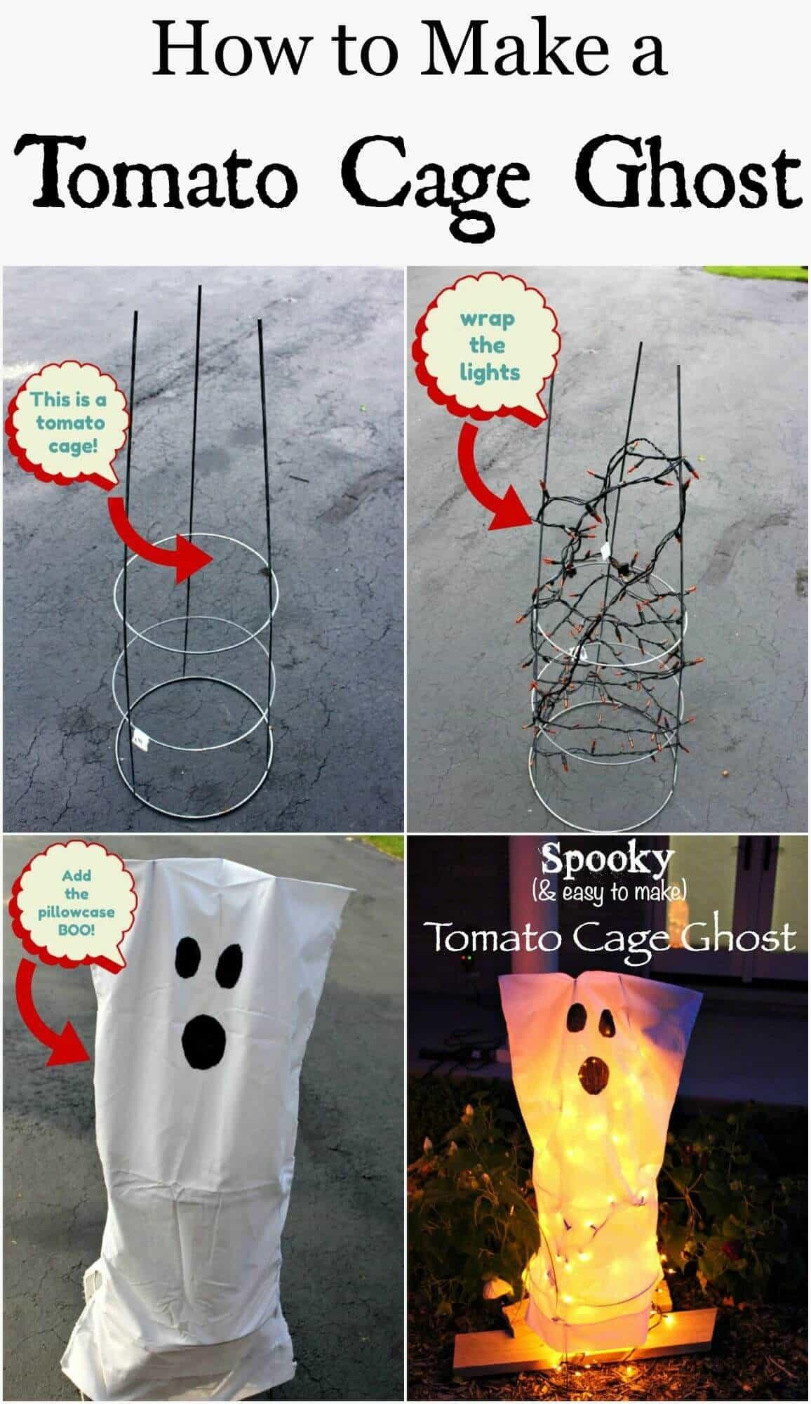 Tomato Cage Ghosts Fail Diy Halloween Decor