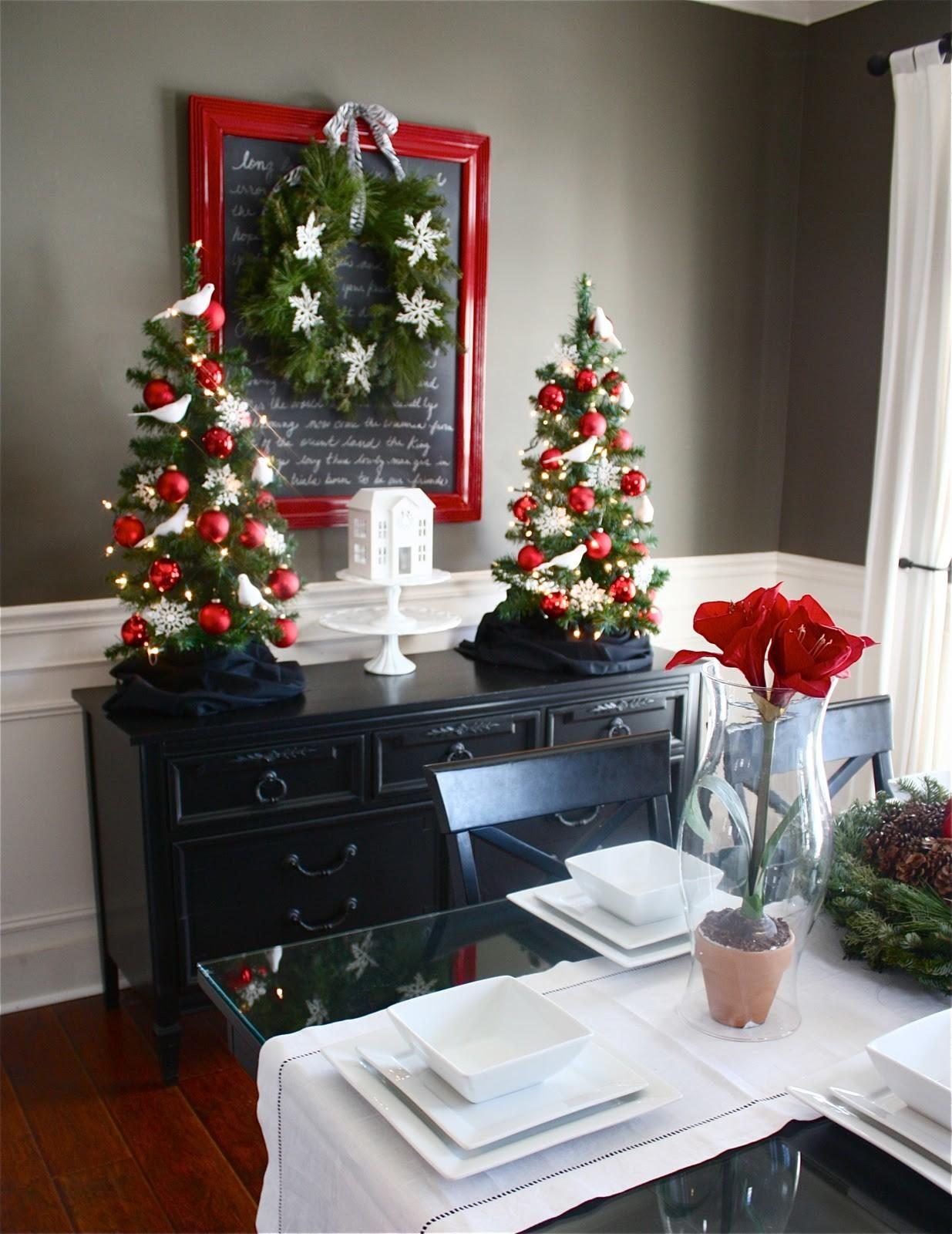 Top Holiday Dining Room Decorating Ideas Regarding