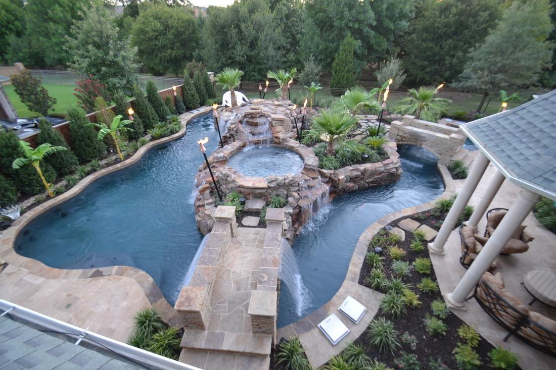 Top Large Backyard Lazy River Pool Design Small