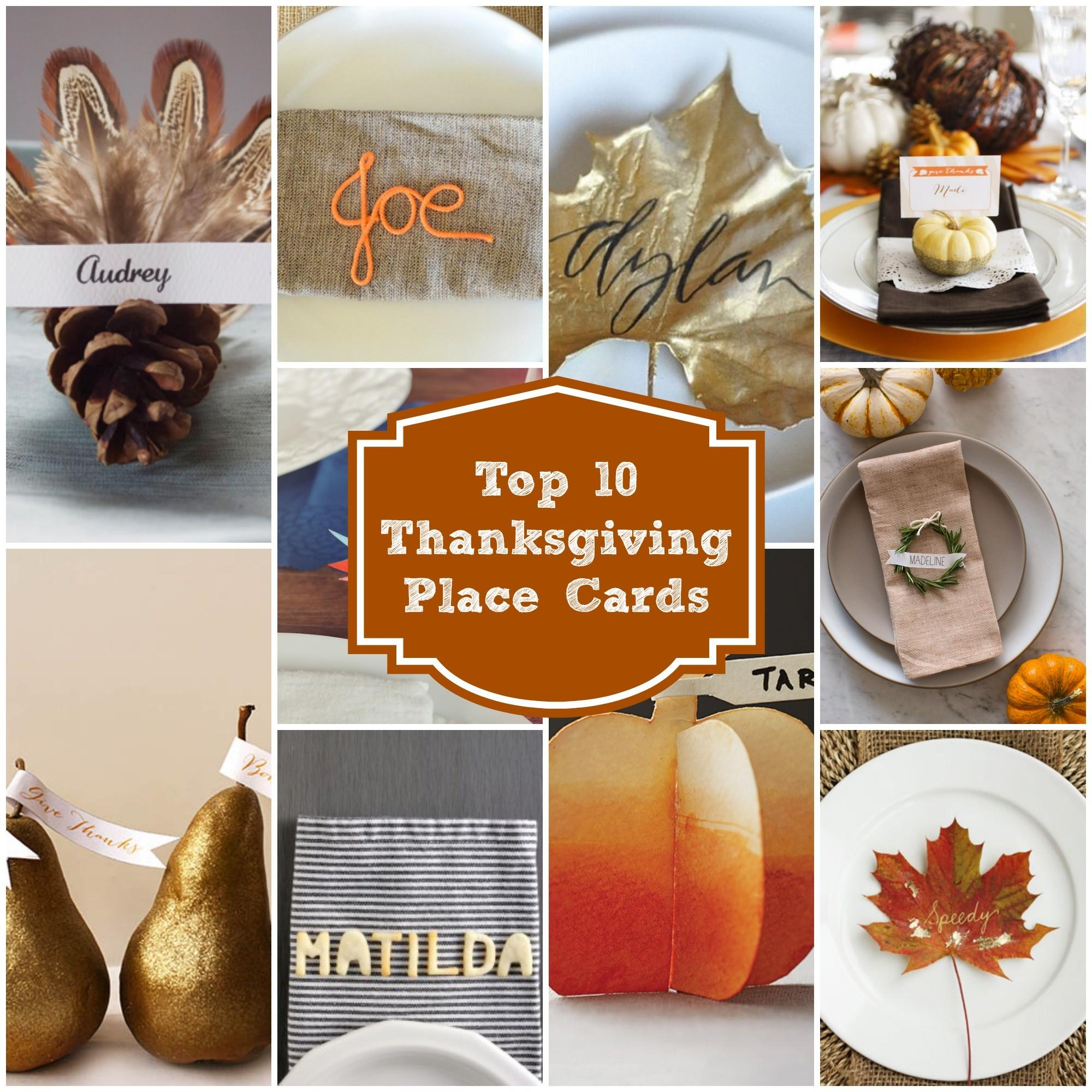 Top Last Minute Thanksgiving Place Cards Rainbow