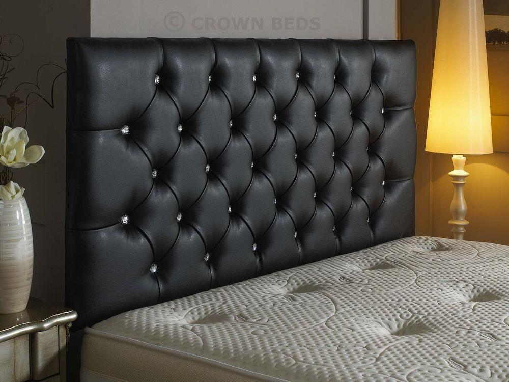 Top Quality Diamante Faux Leather Headboard Inch Height