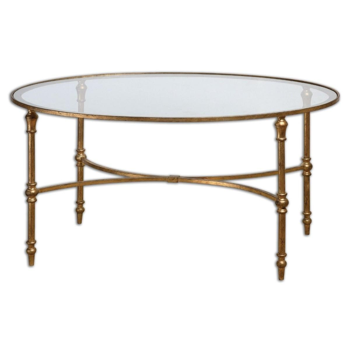 Top Splendid Round Gold Coffee Table Coffe