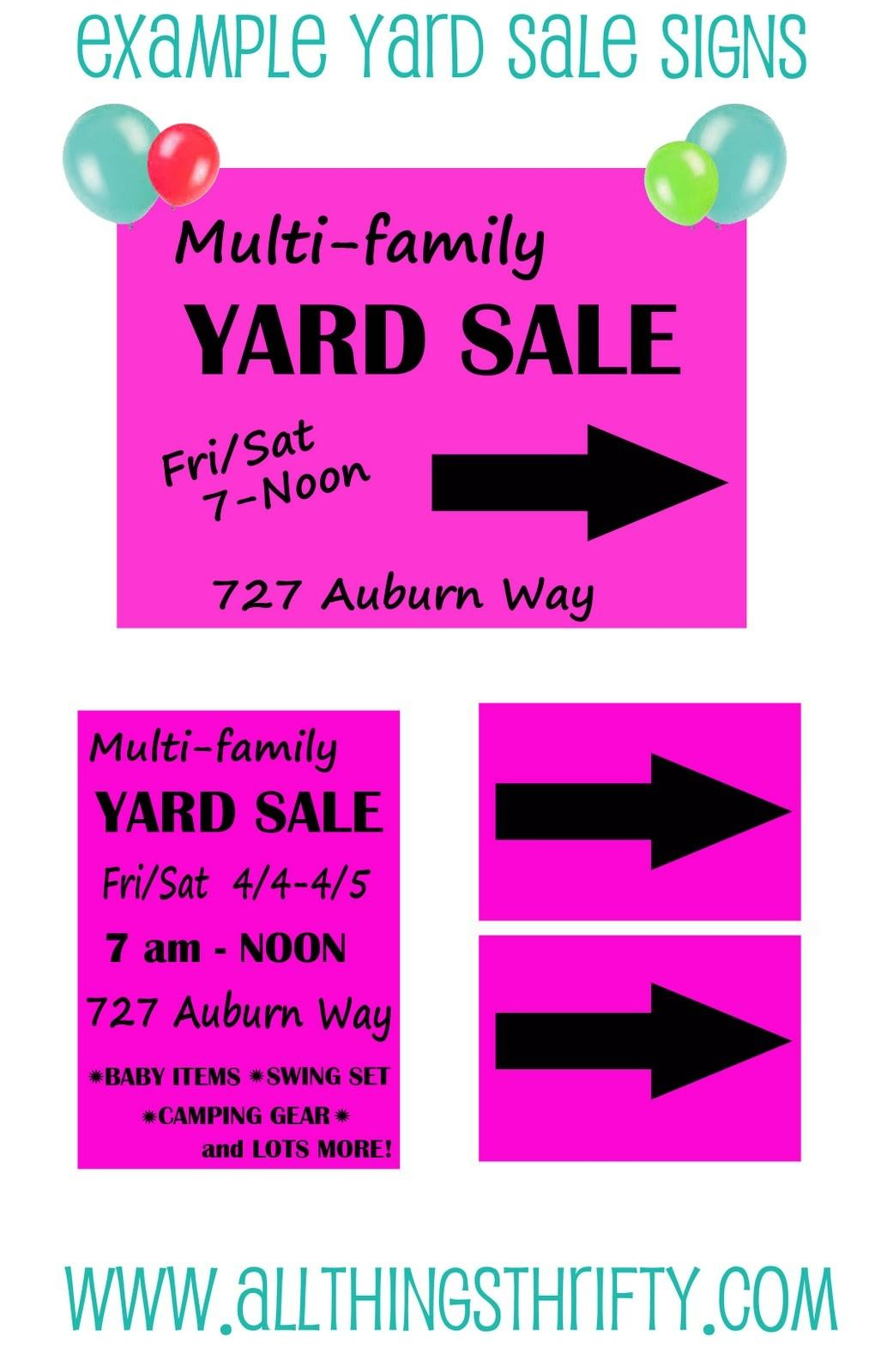 Top Yard Sale Advertising Tips