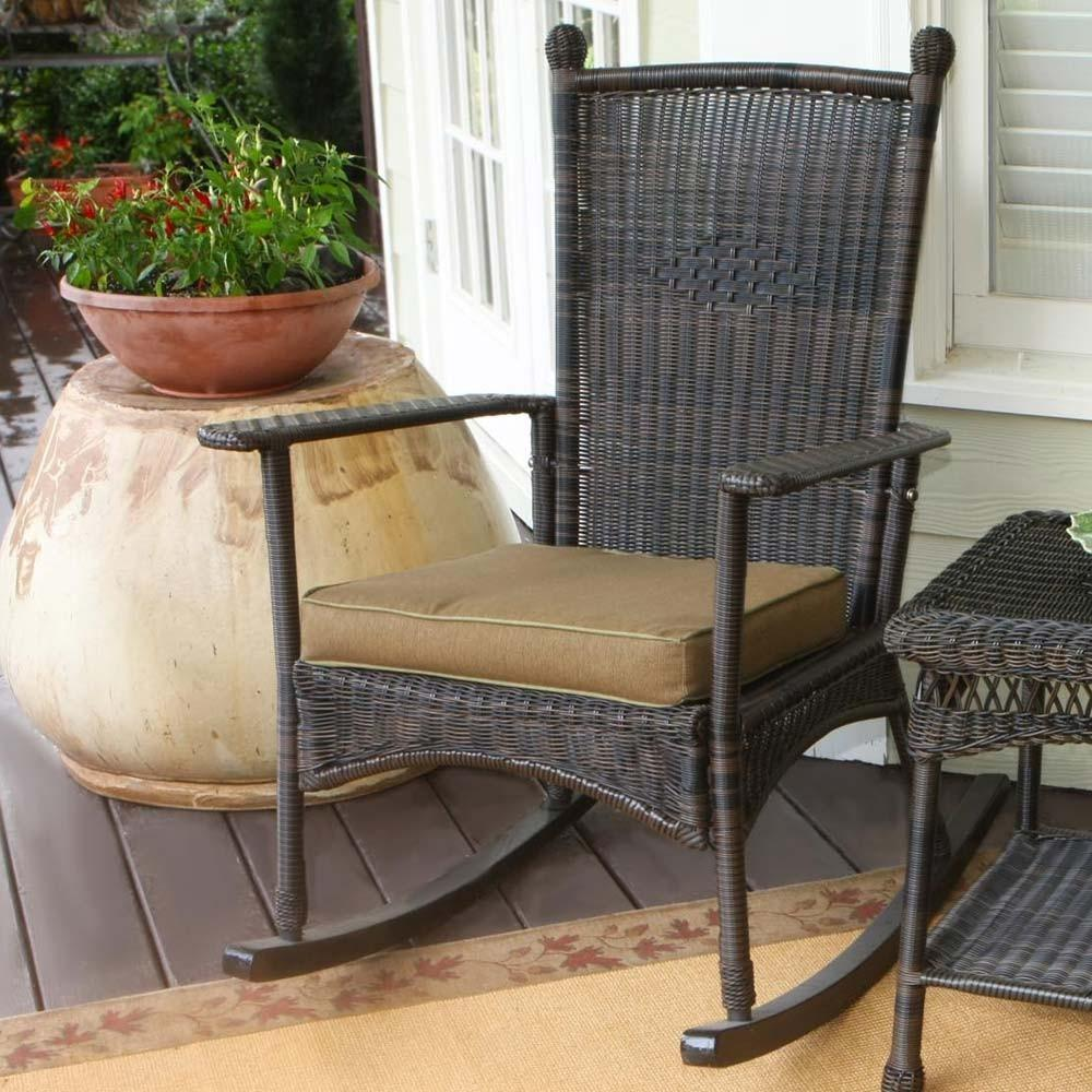 Tortuga Outdoor Portside Classic Wicker Rocking Chair
