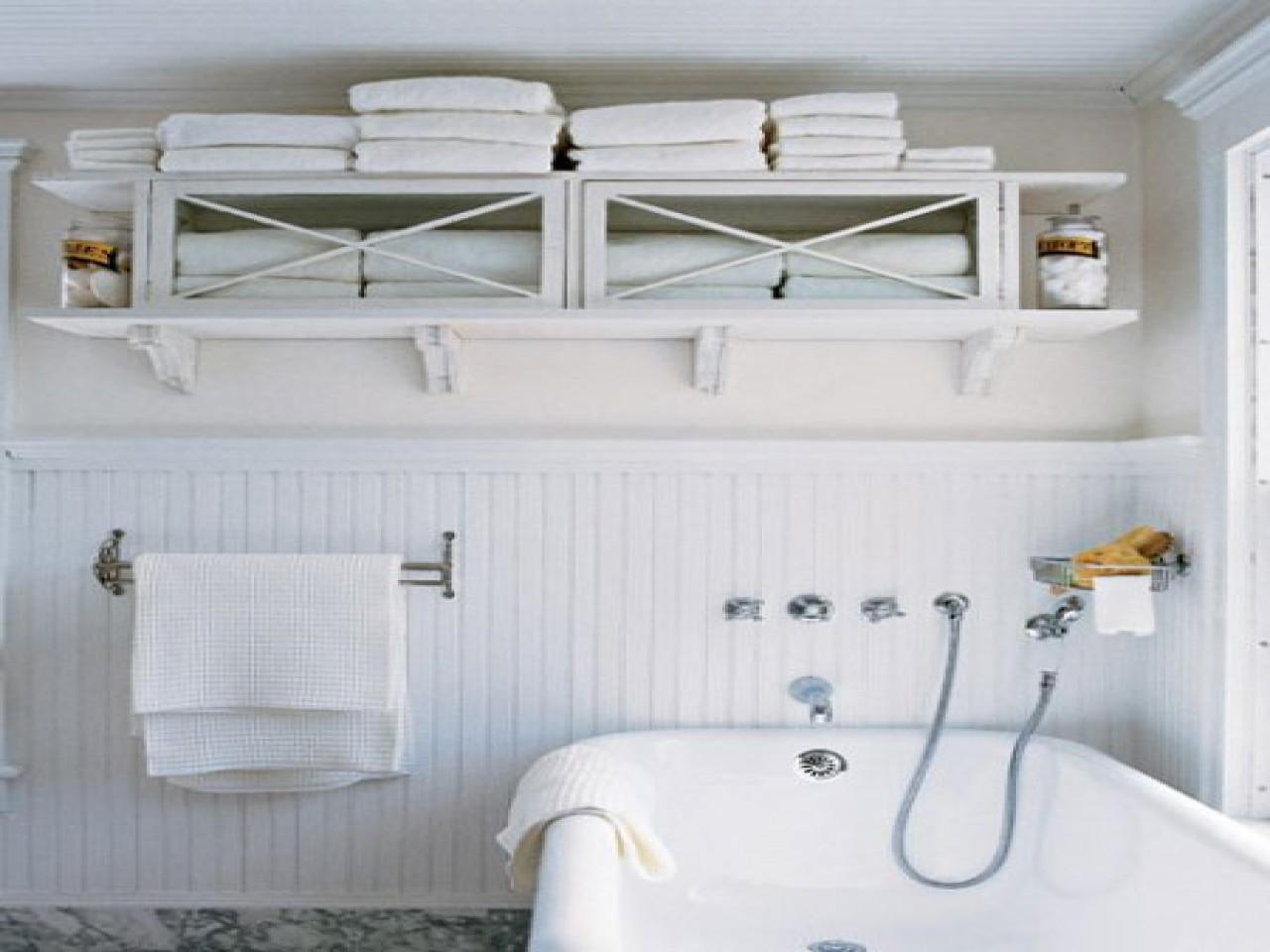 Towel Bar Shelf Bathroom Storage Small Space