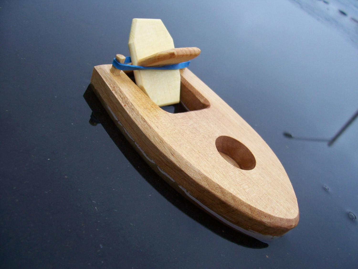 Toy Bathtub Boat Rubber Band Powered Paddle