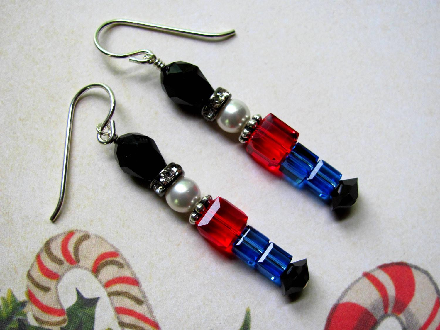 Toy Soldier Earrings Holiday Swarovski