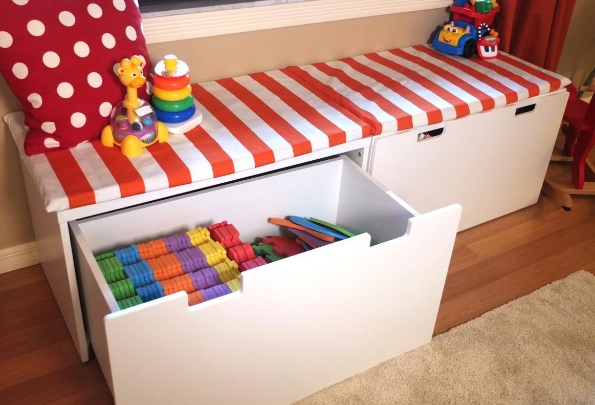 Toy Storage Bench Ideas