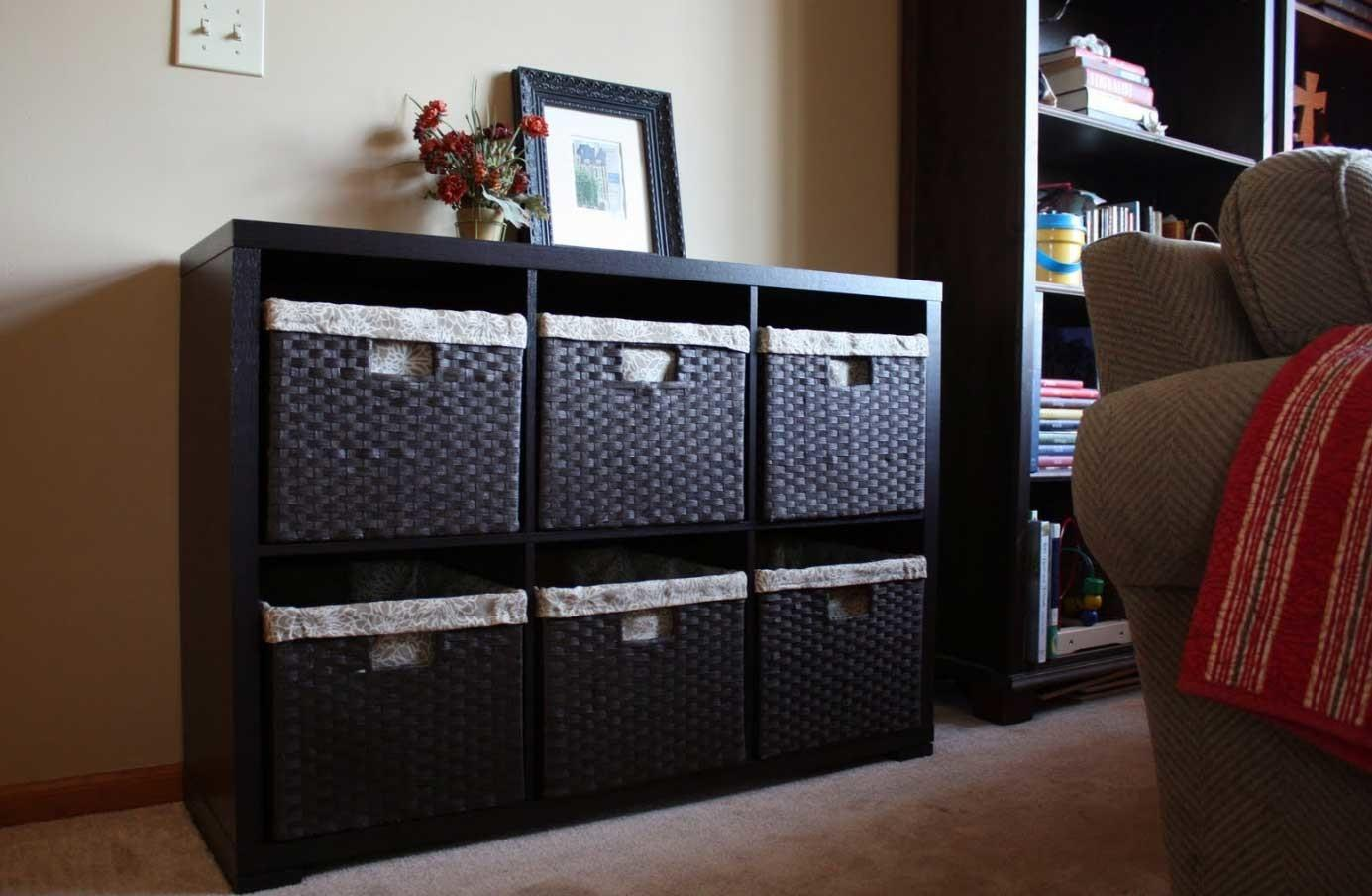 Toy Storage Solutions Living Room Black Color