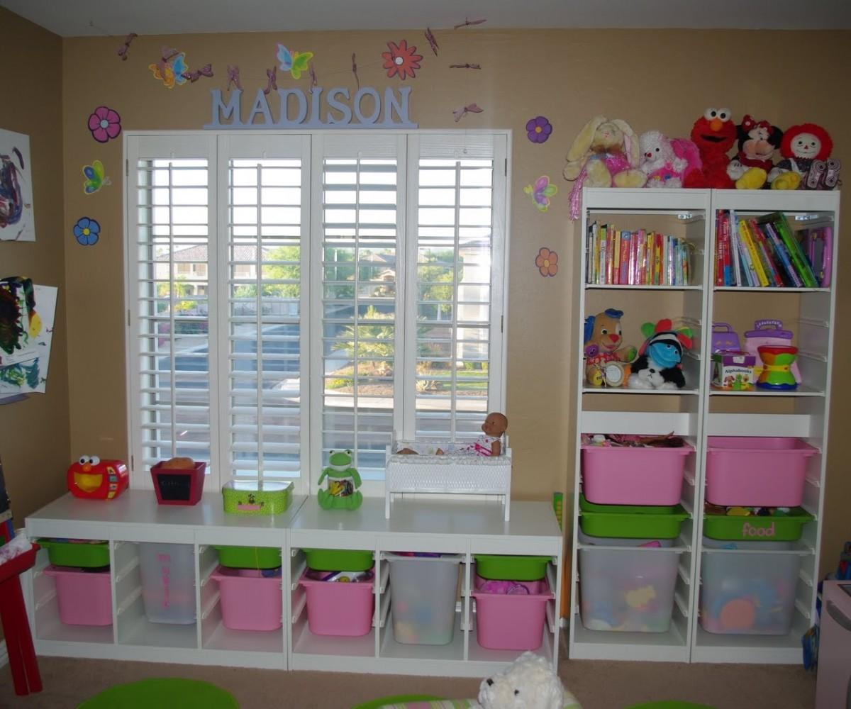 Toy Storage Solutions Tempting Oak Wood Kids Rooms Book