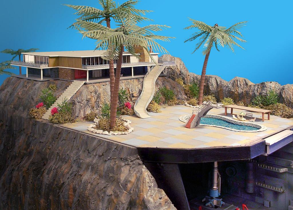 Tracy Island Cliff House Big Diorama Created After