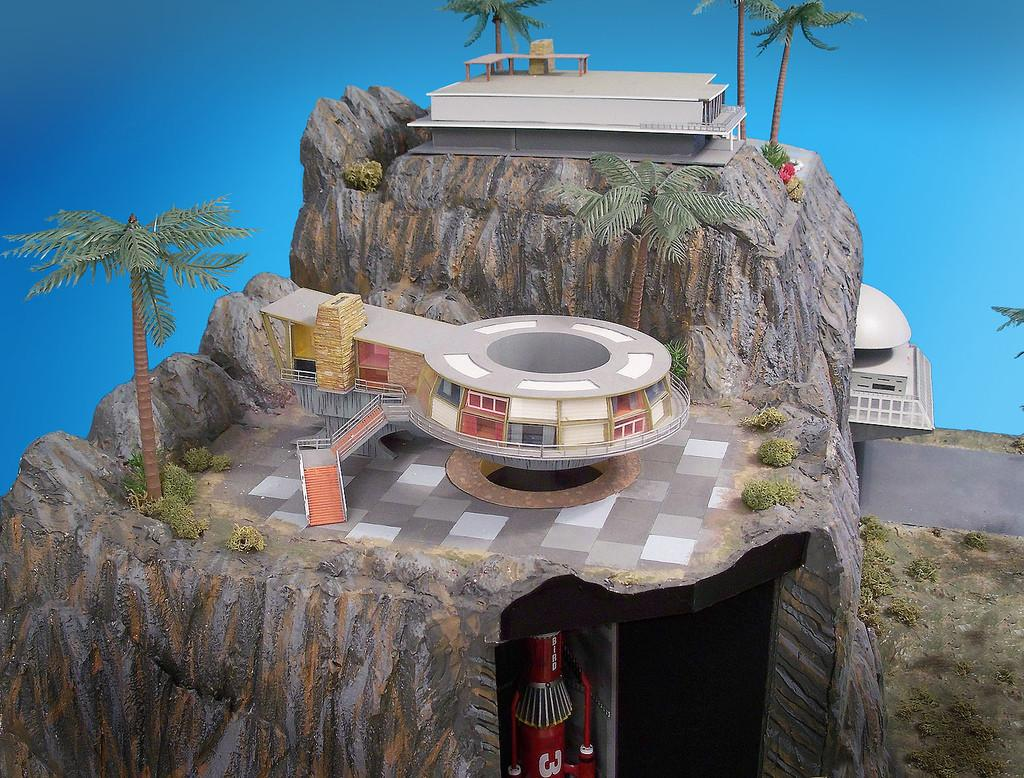 Tracy Island Round House Big Diorama Created After