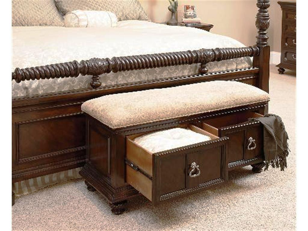 Traditional Bedroom Benches Black White Master
