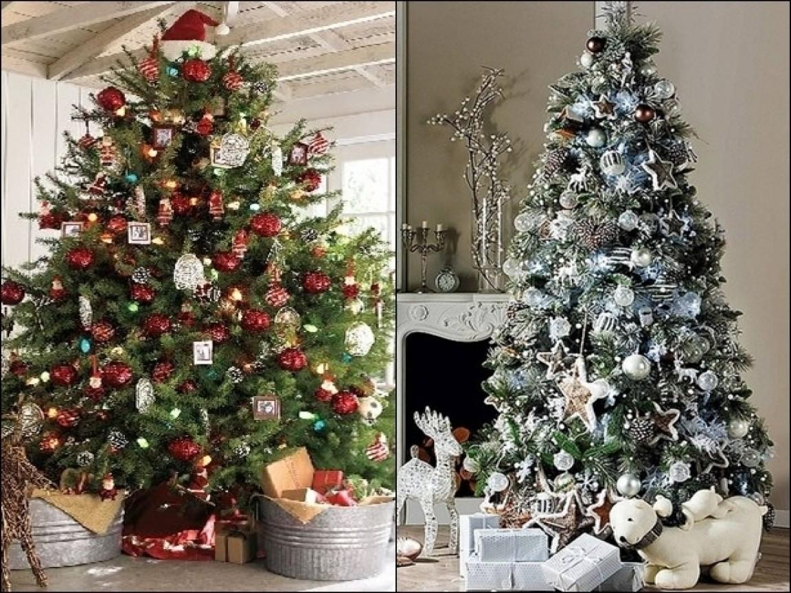 Traditional Decorating Christmas Tree