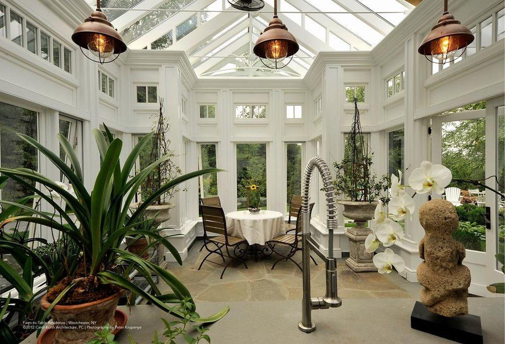 Traditional Dining Room Greenhouse Houlihan