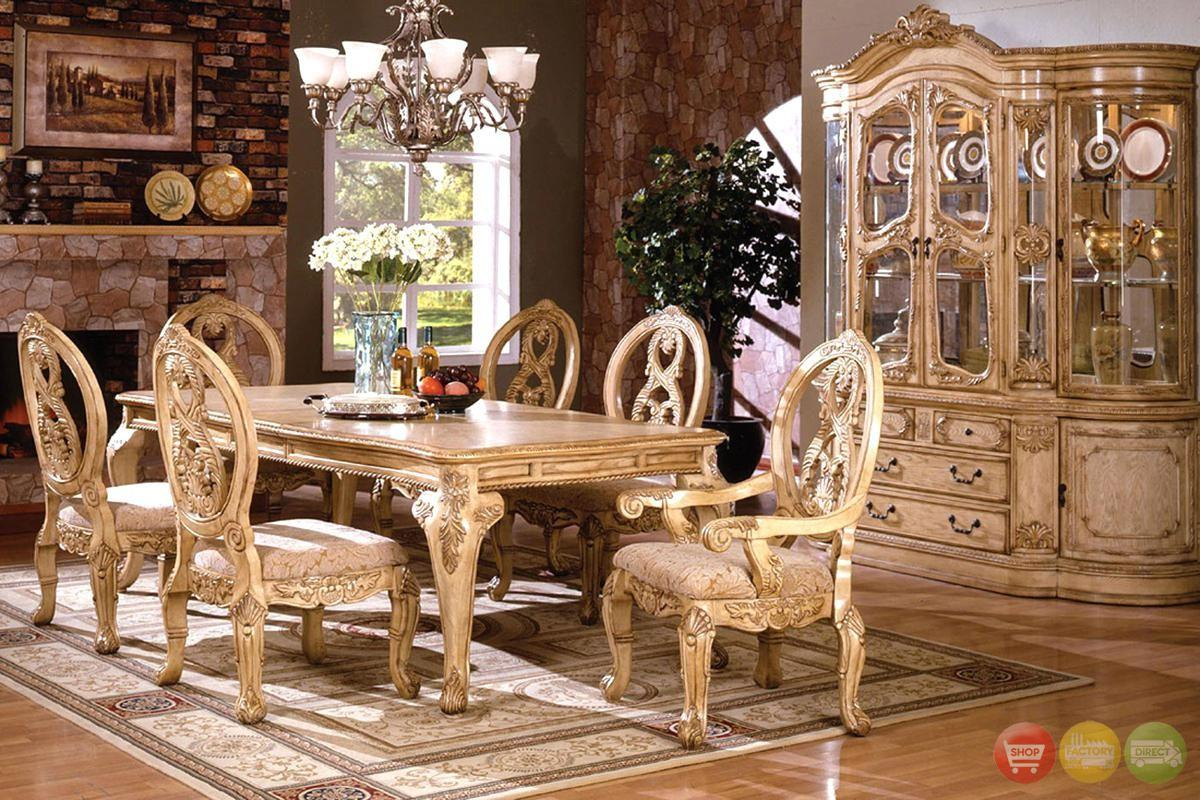 Traditional Dining Room Set Table
