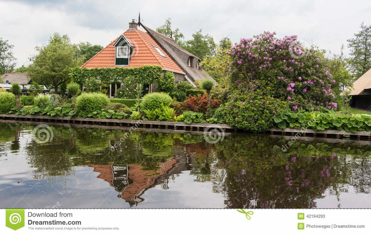 Traditional Dutch House Small Village Stock