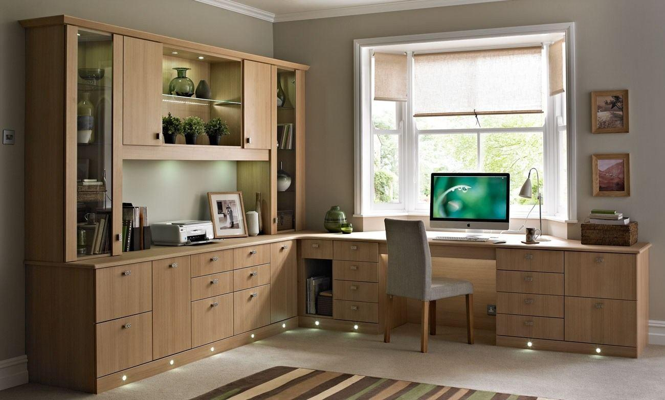 Traditional Home Office Design Grey Laminated Wooden