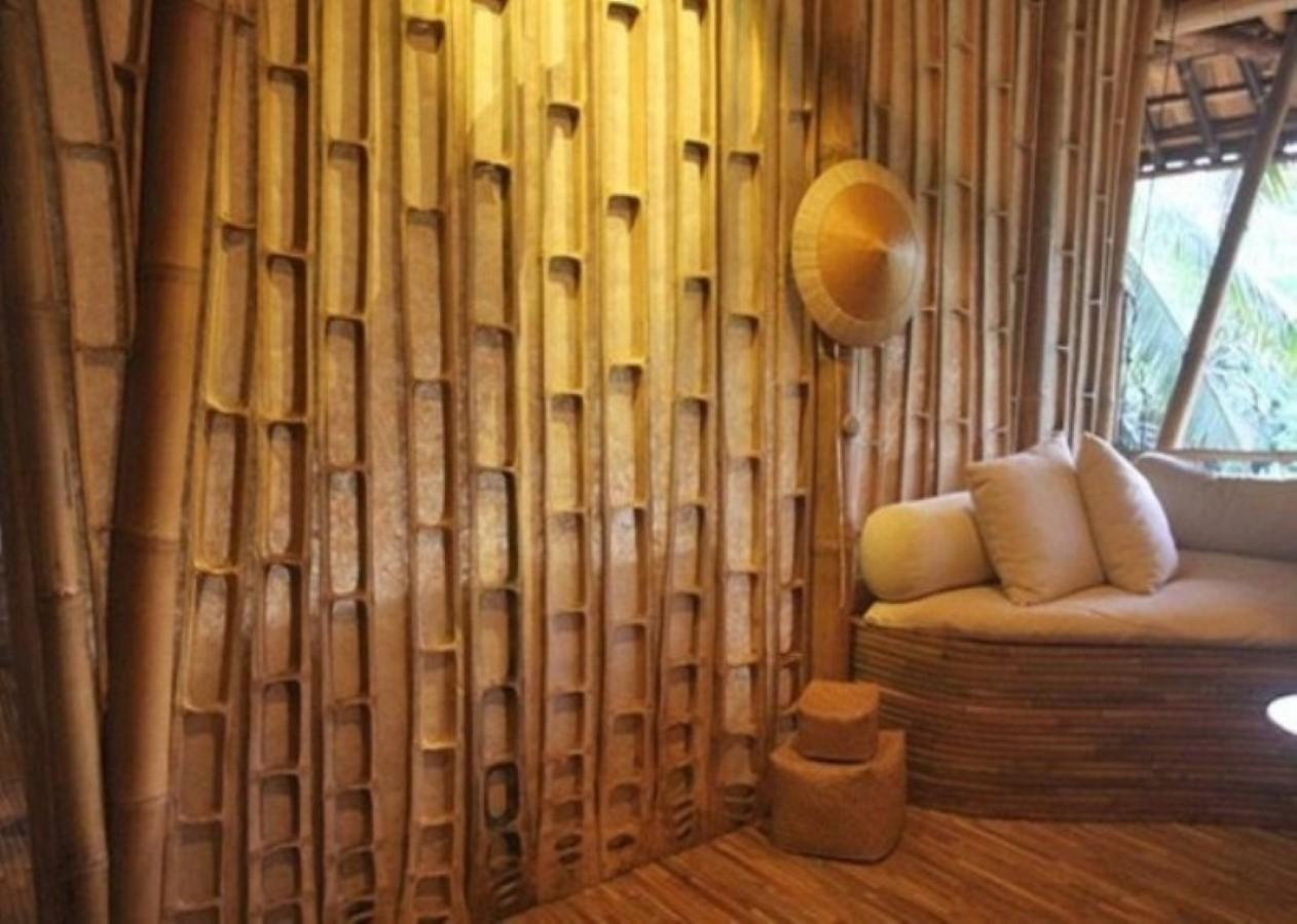 Traditional House Design Pretty Bamboo Wall Panels
