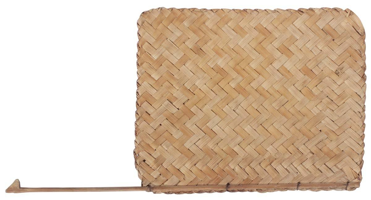 Traditional Indian Handheld Fan Hand Woven Bamboo