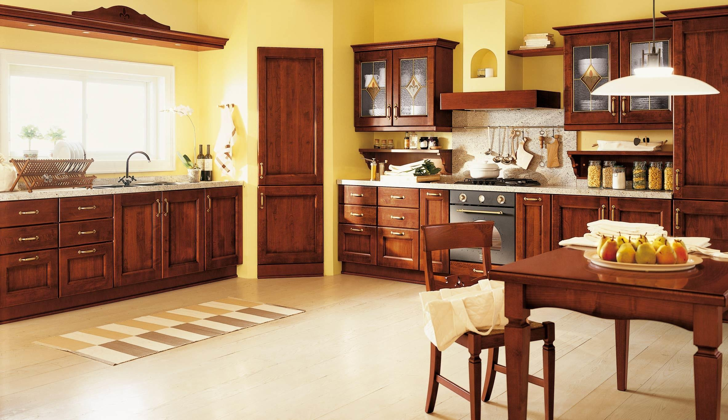 Traditional Italian Kitchen Designs Cesar Italy Brown