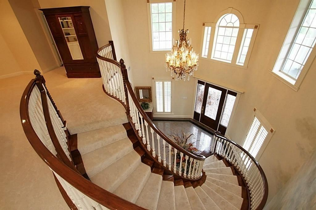 Traditional Staircase Carpet Hardwood Floors