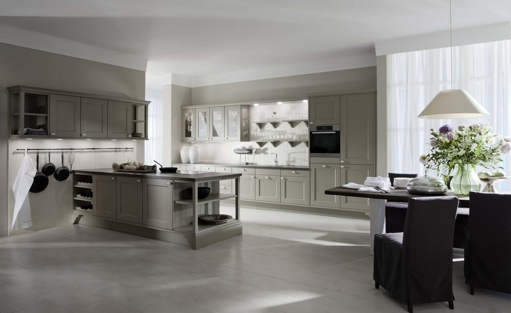 Traditional Style Modern Kitchen Grey White