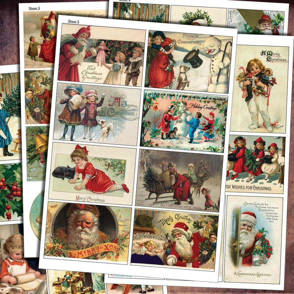 Traditional Vintage Christmas Decoupage Craft Scrapbooking