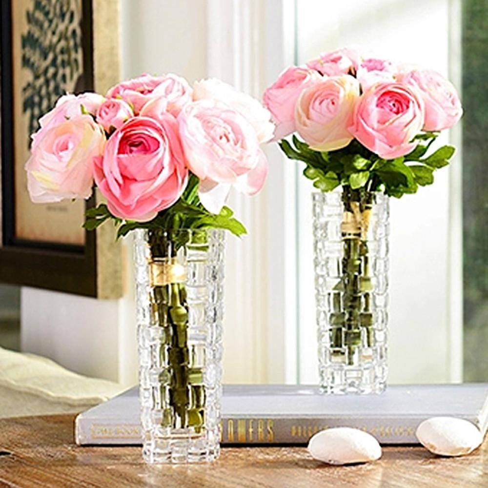 Transparent Crystal Flower Vase Diy Classic Italy
