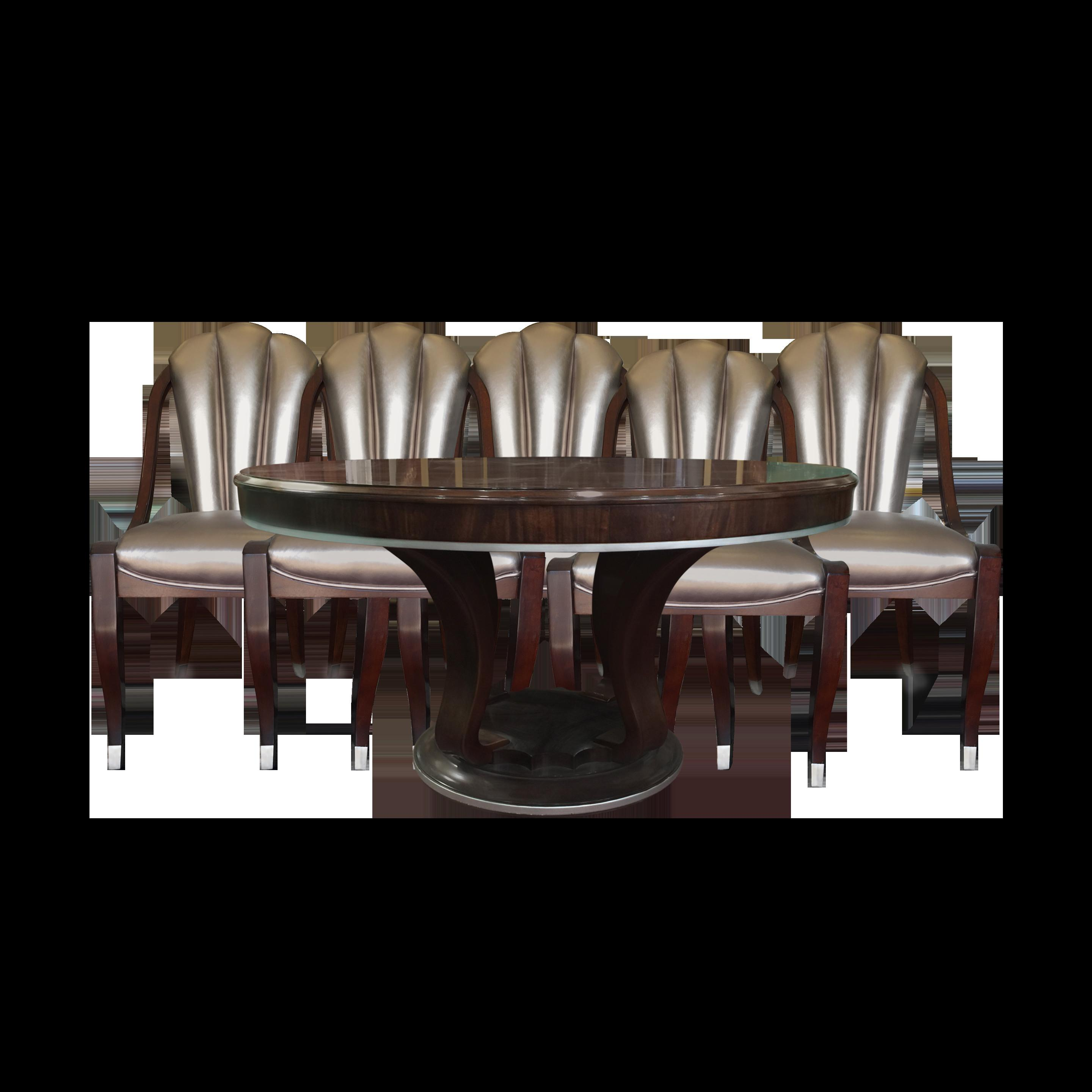 Transparent Dining Chairs Ruffle Chair
