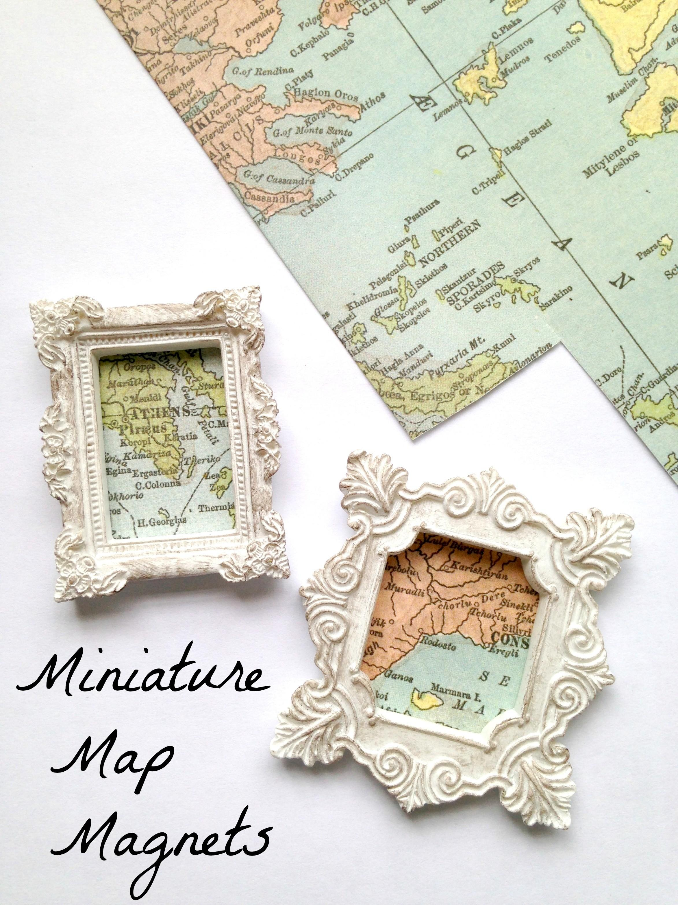 Travel Map Magnets Diy Keepsake Tutorial Exploration America