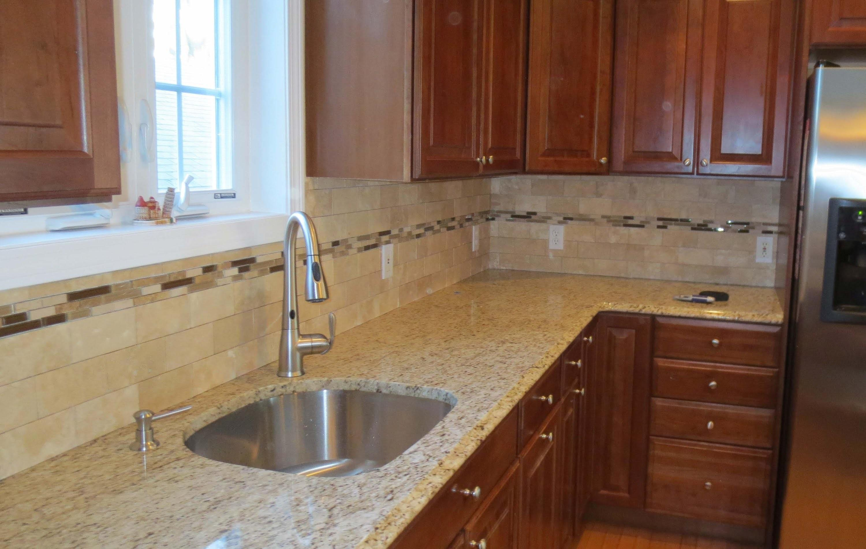 Travertine Subway Tile Kitchen Backsplash Mosaic