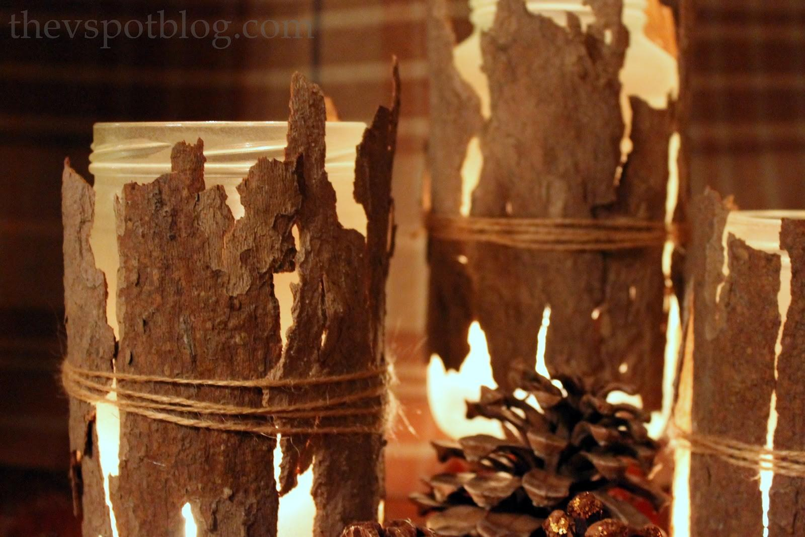 Tree Bark Candle Holders Easy Diy Project Spot