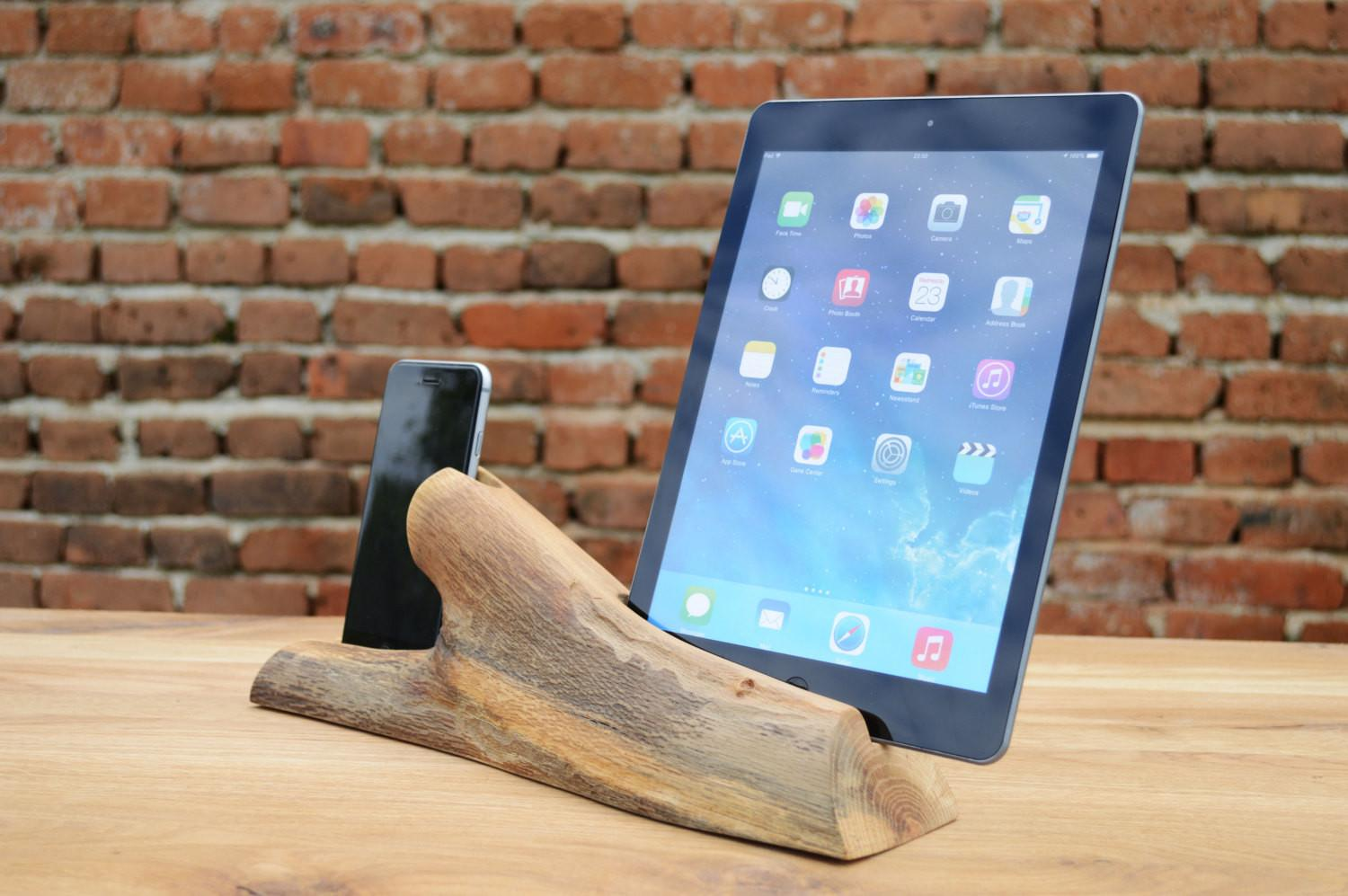 Tree Branch Ipad Iphone Docking Station Wooden