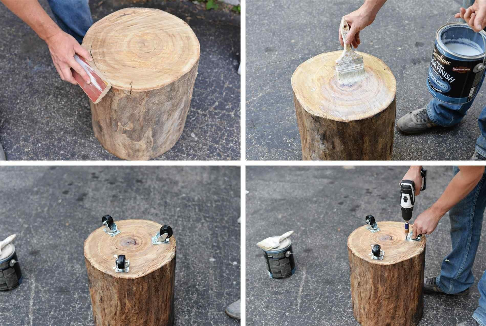 Tree Diy Wood Stump Projects Side Table One Recreation