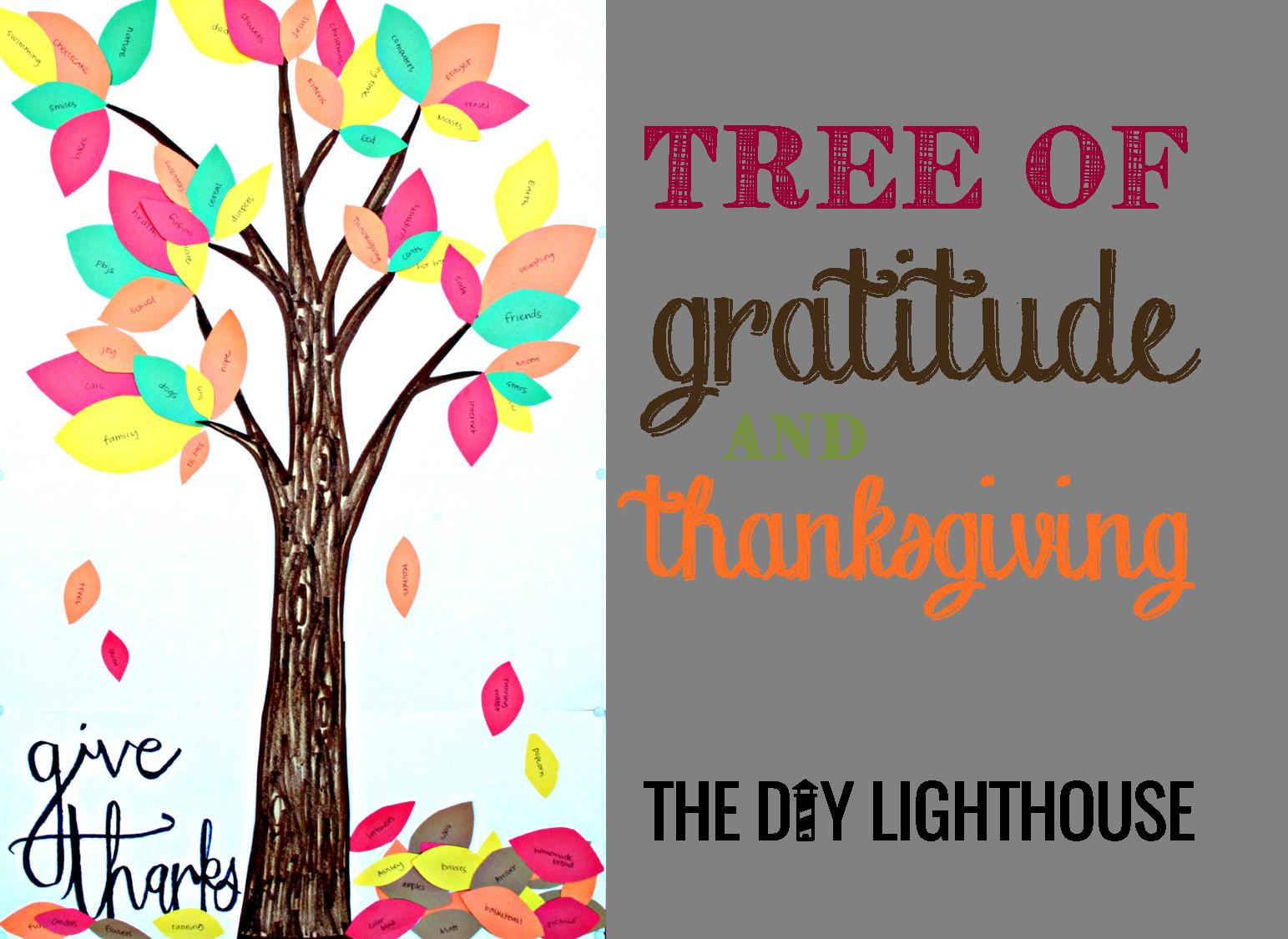 Tree Gratitude Thanksgiving Diy Lighthouse