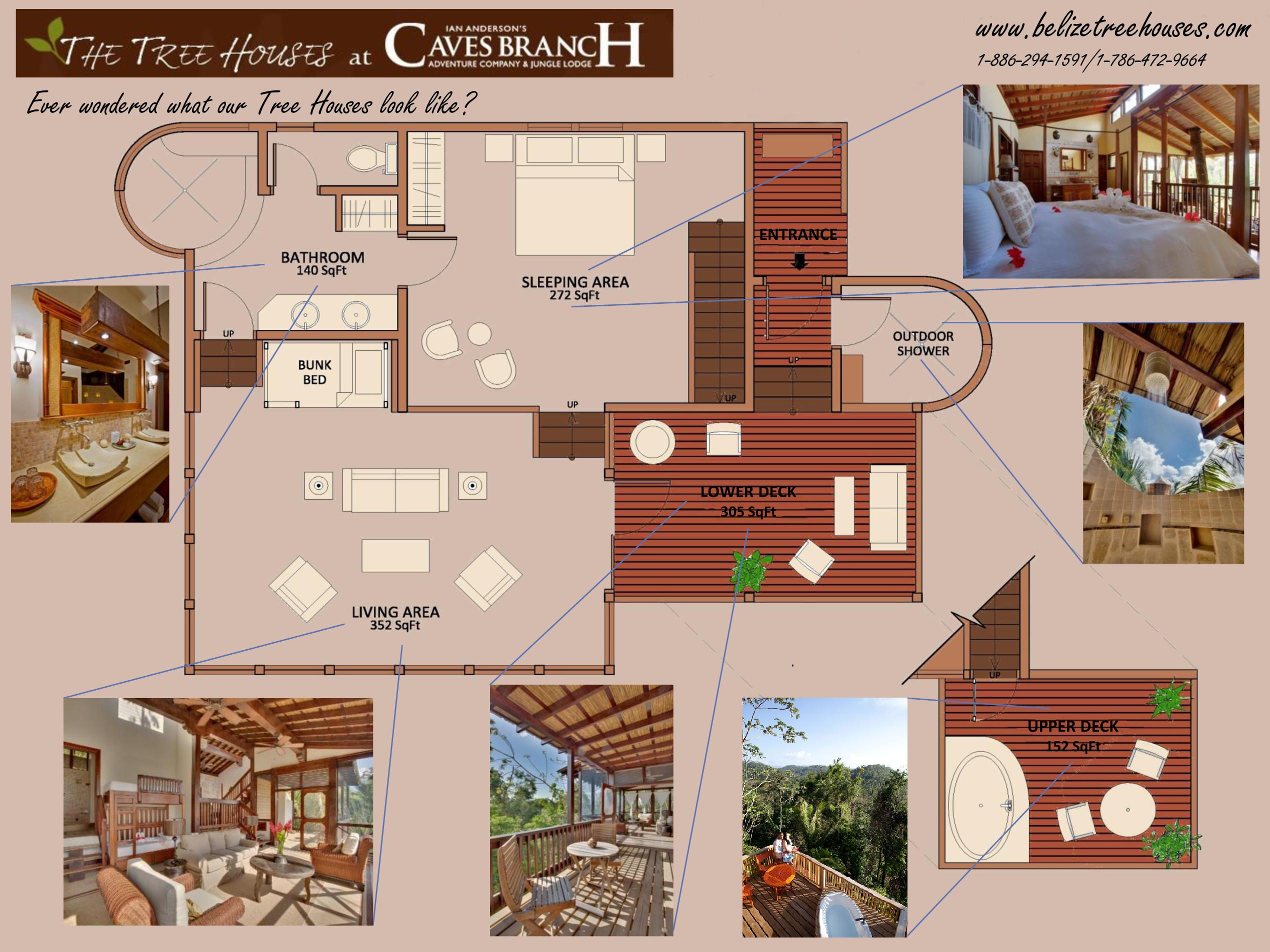 Tree House Layout Belize Treehouses Houses