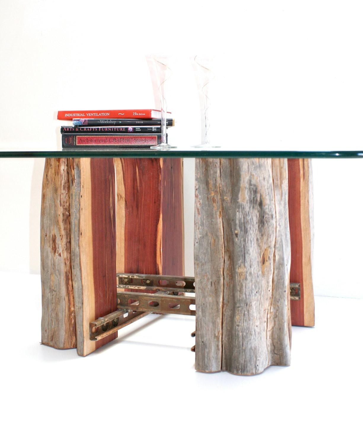 Tree Stump Coffeetable Base Reclaimed Wood Realwoodworks1