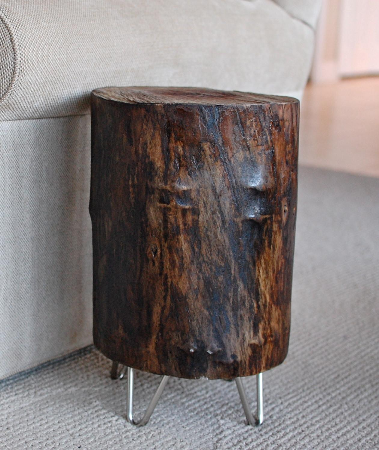 Tree Stump Hairpin Legs Reclaimed Wood Sumsouthernsunshine