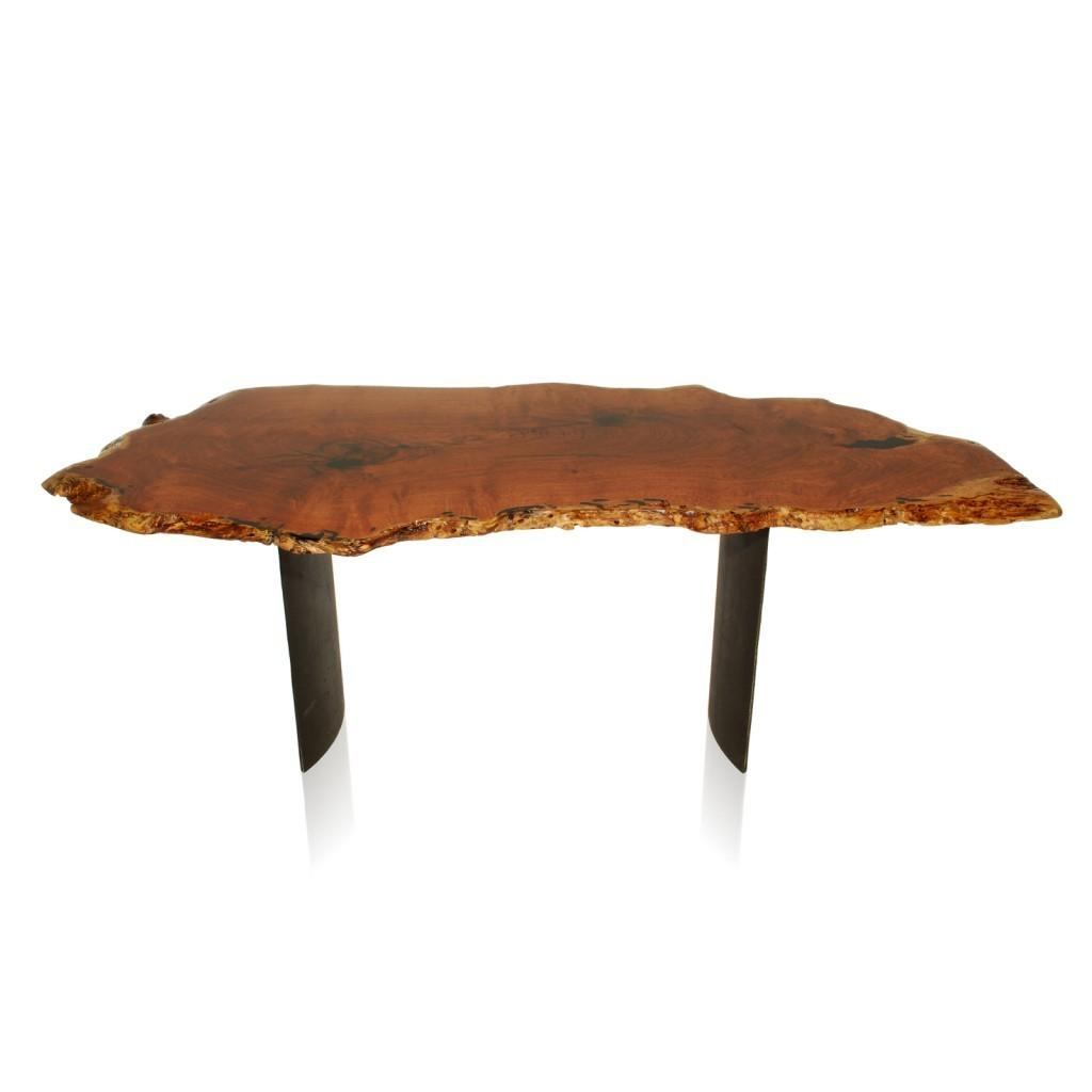 Tree Stump Into Coffee Table Trendy Varnished