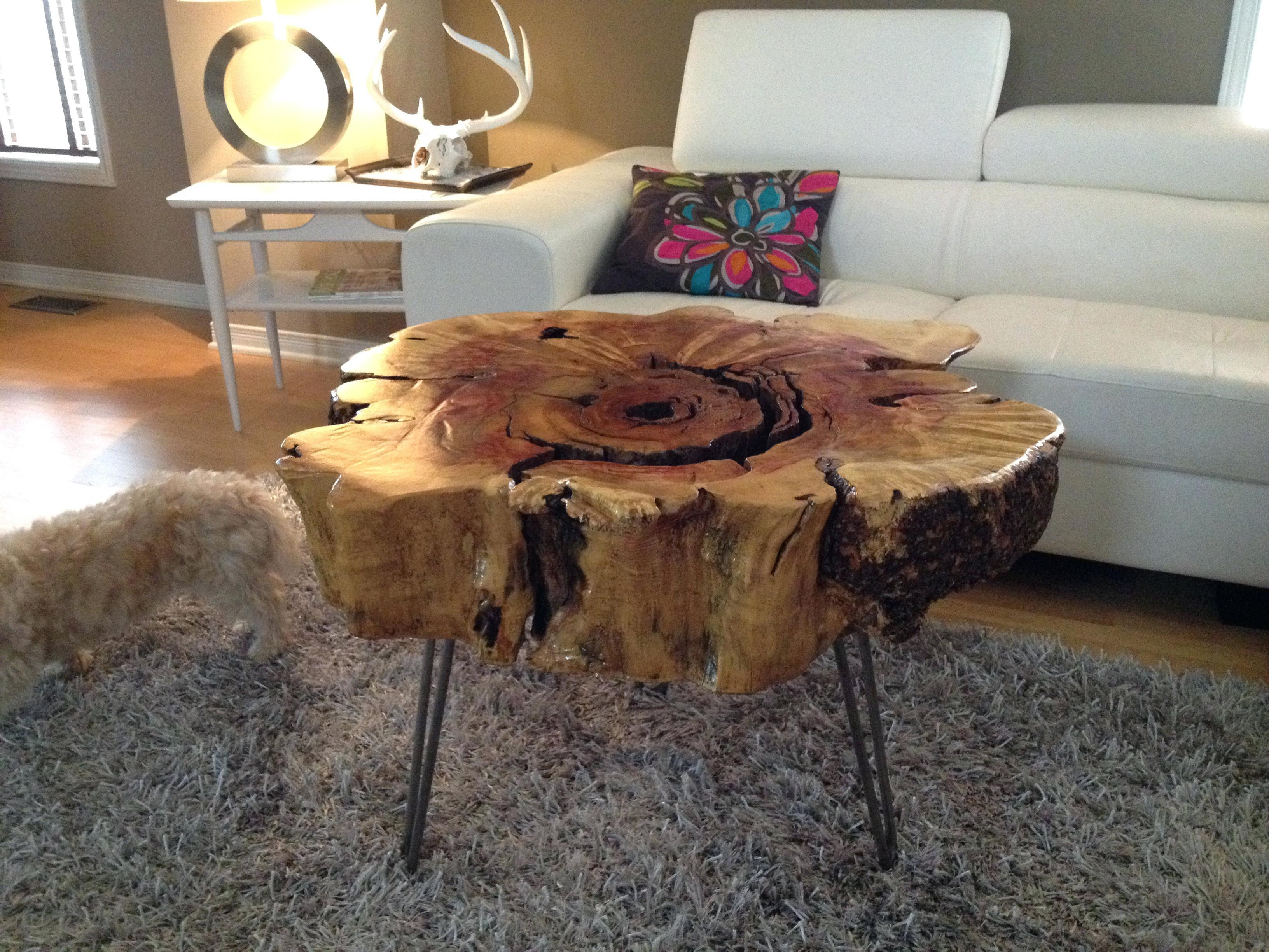 32 Most Beautiful Reclaimed Tree Trunk Tables That You Need To See Today Photographs Decoratorist