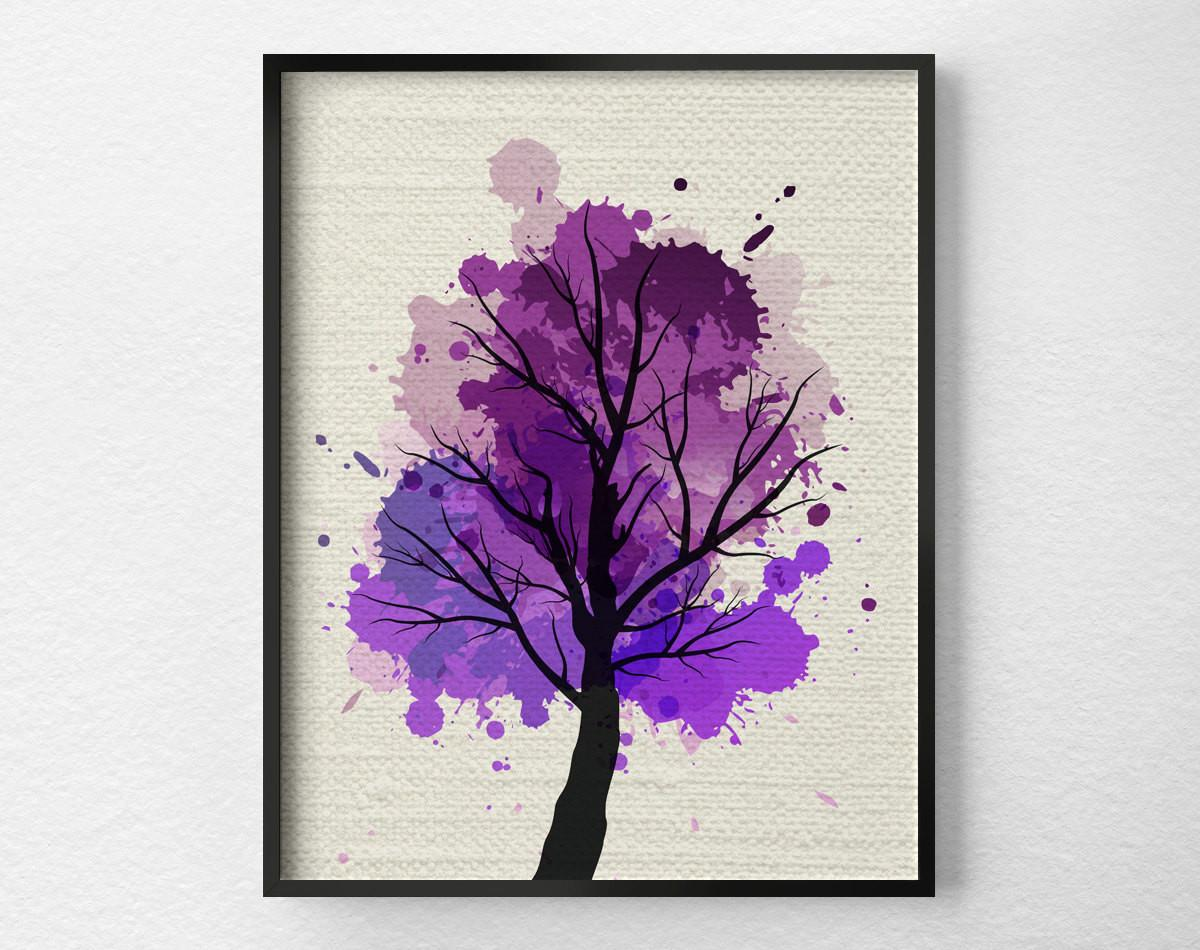 Tree Wall Art Modern Home Decor Fine Print